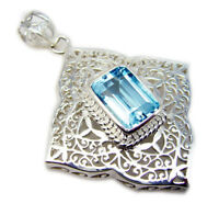 faszinierende blaue Topas 925 Sterling Silber blau Anhänger echte Lieferungen de