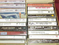 LOT Vintage ROCK / COUNTRY 80's Cassette Tapes / LOVETT  / HANK Jr / ORBISON!