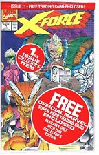Marvel Comics X-FORCE #1 Factory Sealed With Trading Card 1991 Deadpool Cable