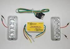 Red LED trailer light kit tail brake signal hazard Boat Car Truck 3rd light