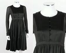 BURBERRY DARK GREEN 100% SILK LONG SLEEVE COCKTAIL DRESS Size 40