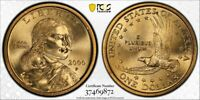 "2000-P $1 PCGS MS65 ""Wounded Eagle"" Sacagawea FS-901 - RicksCafeAmerican.com"