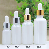 10ml 20ml 30ml 50ml White Empty Glass Essential Oil Dropper Bottles Pipette