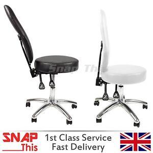 Salon Stool Barber High Back Chair Massage Hairdressing Tattoo Spa Swivel Wheels