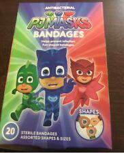 PJMasks Band Aids Bandages 3 Shapes Children Kids 20 Kids 3 Pictures new