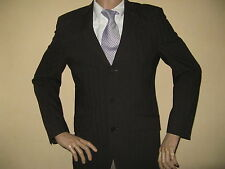 MENS NEXT BROWN SINGLE BREASTED PINSTRIPE WASHABLE FASHION SUIT 38R 32 WAIST 32L
