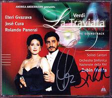 Jose CURA Zubin MEHTA Signed VERDI La Traviata 2CD Eteri Gvazava Rolando Panerai