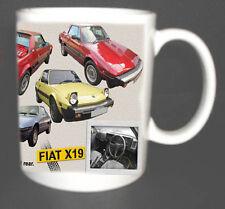 FIAT X1/9 X19 CLASSIC SPORTS CAR MUG LIMITED EDITION. COLLECTORS MUG NEW DESIGN