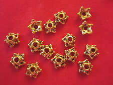 50 Gold Coloured 6mm Star Bead Caps #bc946 Combine Post-See Listing