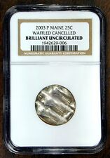MAINE STATE QUARTER 25c 2003P U.S. MINT CANCELLED ERROR COIN NGC HOLDER