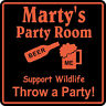 Personalized Birthday Party Room Beer Bar Gag Gift Sign #2 Custom USA Made