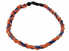 "SALE 18"" 3 Rope Titanium Twist Sport Necklace Orange Royal Blue Tornado Baseball"