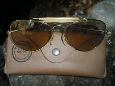 1970's 58MM VINTAGE B&L RAY BAN BRN CHANGEABLES OUTDOORSMAN AVIATORs SUNGLASSES