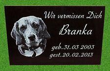 Tiergrabstein Fotogravur Grabstein Granit Gedenkstein Wunschgravur