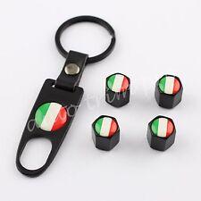 4X Truck Air Dust Wheel Rim Tire Tyre Valve Stem Caps Cover Italy IT Flag Emblem