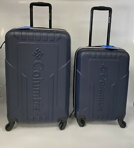 Columbia Rail Trail Loop 2 Piece Hardside Spinner Luggage Navy 24HQX, 20HQX New
