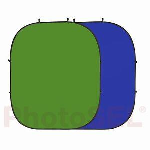 PhotoSEL BD123GU Chroma Key Green & Blue Photo Collapsible Background 2m x 2.4m