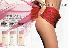 PUBLICITE ADVERTISING 035  1994  DIOR  cosmétiques corps svelte ( 2p)