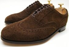 MENS VINTAGE FOOYJOY BROWN SUEDE LEATHER WINGTIP OXFORD DRESS SHOES SZ 8 D 8D