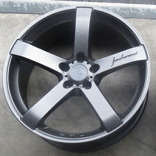 "18"" MRR VP5 GRAPHITE WHEELS FOR AUDI A4 A5 A6 A8 18X8.5 5x112 +35 RIMS SET OF 4"