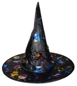 Hexenhut für Kinder Bunt Hexe Halloween Karneval Party Fasching Zauberer