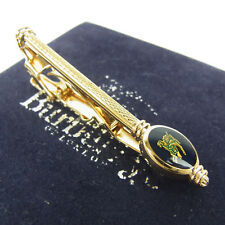 Auth Burberrys Logos Tie Clasp Tie Bar Clip for Men F/S 990