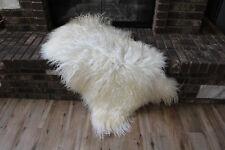 Genuine Icelandic Sheepskin Rug Throw – shade of white  - curly pile