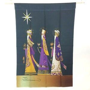 "Three Wise Men Christmas Holiday Gold Star Bethlehem 28"" x 40"" Toland House Flag"