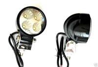2 x 12V LED ROUND FRONT DRL LIGHTS FOG HALOGEN ROLL BAR VAN PICKUP MOTORHOME CAR