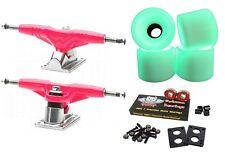 """Gullwing ProIii 9"""" 155mm Pink Trucks + Blank Pro 60mm Glow In The Dark Wheels"""