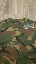 NEW Polo Ralph Lauren Jersey Knit Long Sleeve T Shirt  Camo w/ Pocket & Pony LT