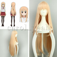 Anime Himouto! Umaru-chan Umaru Doma Milk orange Cosplay Wig Hair Cos 100cm New
