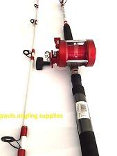Shakespeare Omni Sea Fishing 7 ft Boat Rod + Multiplier Reel 20 lb LEFT HAND