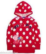 NEW with tags BNWT long sleeve sweater top shirt hoodie peppa pig red size 1