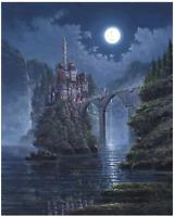 Disney Fine Art Limited Edition Canvas Siege On Beast's Castle-Rodel Gonzalez