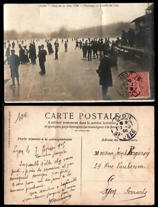 Carte Postale Ancienne : Parc de la Tête d'Or à LYON en 1905 / Lot France