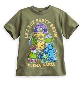 Disney Authentic Monsters University Oozma Kappa Boys Shirt Size 4 5/6