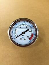 "2.5""Panel mount 0-150 glycerin filled pressure gauge with mounting bracket"