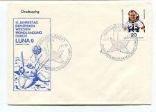 1981 Druscksache Jahrestag Ersten Weichen Mondlandung LUNA 9 Karl Marx SPACE SAT