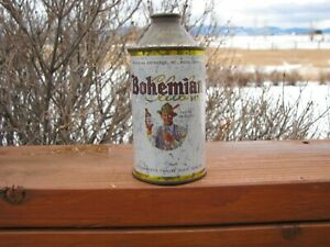 BOHEMIAN Boise, Idaho Old Cone Top Beer Can