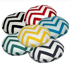 Flat Round Shape Cover*A-Grade Cotton Canvas Floor Seat Chair Cushion Case*Le
