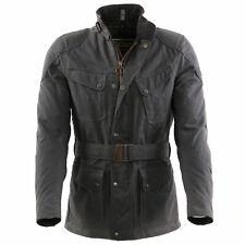 MATCHLESS Herren Winter Wax Mantel KENSINGTON Elephant Grey 110304 Größe S