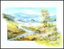 Reint Withaar Landschaft mit Fluss Poster Kunstdruck im Alu Rahmen 60x80cm