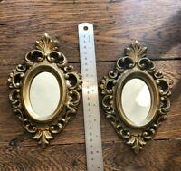 vintage gold framed mirror burwood products Hollywood regency mirrors 1 pair