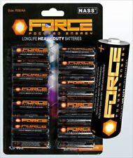 Force 80x AA Mignon BATTERIES Batterie aucune batterie NEUF Battery N. encore chargeable