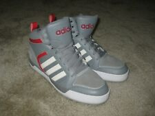Adidas Neo Raleigh 9tis Mid Mens Gray and Red Shoes AW5408 Size 11 US