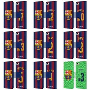 FC BARCELONA 2020/21 PLAYERS HOME KIT GROUP 2 LEATHER BOOK CASE FOR iPOD TOUCH
