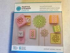 NEW SEALED MARTHA STEWART CRAFTS CUT AND FOLD PUNCH SET #1 PINWHEEL