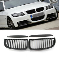 For BMW Saloon 2005-2008 4D Matte For E90 E91 Black Front Kidney Grill Grilles
