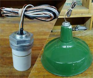 """Socket Replacement for Barn Light Shade NEW Porcelain Enamel 1/2"""" Pipe VTG Lamp"""